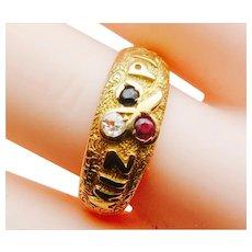 Engaging Victorian Mizpah Ring
