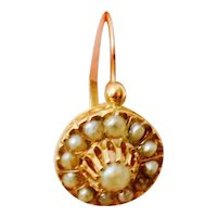 Charming Art Nouveau Pearl Cluster Earrings