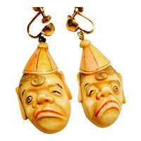 Delightful Curiosity--Carved Bone Earrings