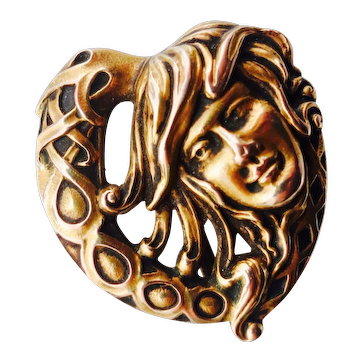 Art Nouveau 14K Watch Pin