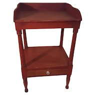 New England mid 19th Centruy Gallery Washstand in Original Red Paint