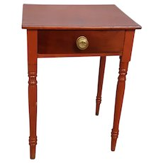 New England birch one drawer stand early 19th century