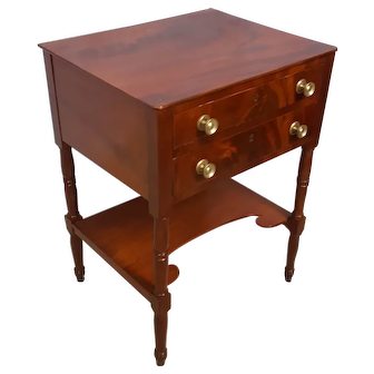 Early 19th century mahogany two drawer stand