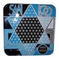 Vintage SanLoo Chinese Checkers Metal Game Board
