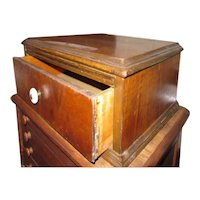 Vintage Single Drawer Spool Silverware Chest