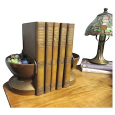 Vintage Arts and Crafts Copper Bookends Planter Book Ends