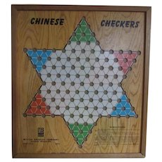 Vintage Milton Bradley Chinese Checkers Board Game
