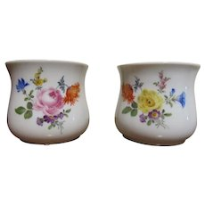 Meissen German Drinking Cups Floral Decorated