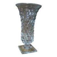 American Fostoria Large Crystal Flared Flower Vase