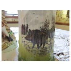 West Germany Trick Puzzle Tankard Wild Boar Beer Drinking Mug