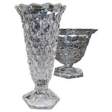 American Fostoria Crystal Flared Flower Bud Vase