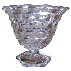 American Fostoria Crystal Flared Mayonnaise Jelly Server