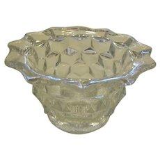American Fostoria Crystal Mayonnaise Serving Bowl