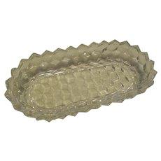 "American Fostoria Crystal 8"" Oblong Celery Relish Tray Server"