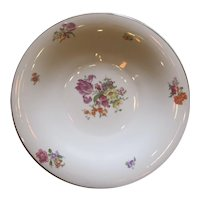 Large Edelstein, Bavaria Germany, Floral Decorated Porcelain Bowl