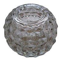 American Fostoria Crystal Rose Bowl Vase