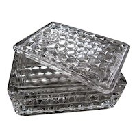 "American Fostoria Crystal 4.75"" Cigarette Box With Lid"