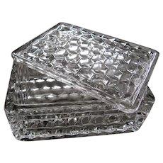 "American Fostoria Crystal 4.75"" Cigarette Box With Lid"
