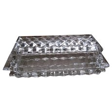 American Fostoria Crystal Quarter Pound Covered Butter Dish