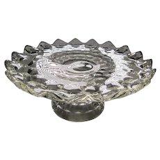 "American Fostoria Crystal 10.5"" Round Cake Stand"