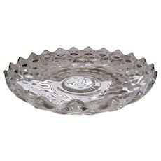 "American Fostoria Crystal 12"" Round Flared Serving Platter"