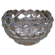 Set Of Three American Fostoria Crystal Serving Bowls
