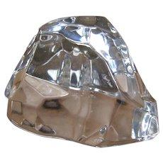 Val St Lambert Cubist Free Form Crystal Iceberg Paperweight