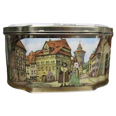 Wicklein German Biscuit Cookie Tin Nuremberg Germany