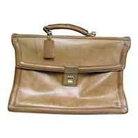 Vintage English Boot Leather Michael Scott Gents Attaché Document Briefcase Satchel Bag Case
