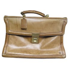 Vintage English Boot Leather Michael Scott Gents Attaché Document Briefcase Satchel Bag Case