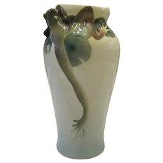 Franz Collection Porcelain Large Amphibia Frog Vase
