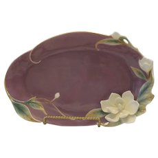 Franz Collection Porcelain Southern Charm Magnolia Blossom Platter