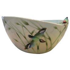 Franz Collection Porcelain Large Bamboo Song Bird Bowl