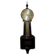 Vintage Ingraham Banjo 8 Day Mahogany Wall Clock