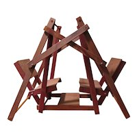Childs Vintage Toy Double Doll Swing Set