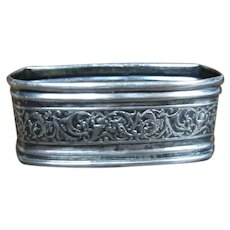 Sterling Repousse Embossed Napkin Ring
