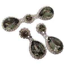 Vintage Signed Pauline Trigere Brooch and Earrings Set