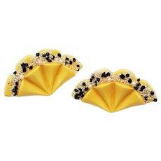 Bakelite Fan Earrings