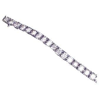 14KT WG Large DIamond Bracelet