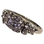 14kt Vintage European Cut Diamond Ring