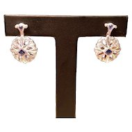 14kt Sapphire & Diamond Earrings