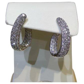 2.44 Carat DIamond Earrings in 14kt White Gold