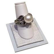 14kt YG & Silver freshwater cultured Pearl Ring