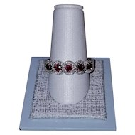 Exquisite Ruby and Diamond Band 14kt white gold