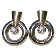 Amazing Half Carat Diamond Earrings