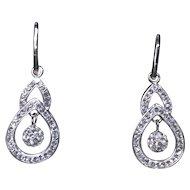 Sterling Silver CZ Fashion Earrings