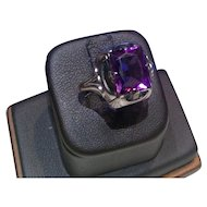 Vintage Sterling Ring with Purple Spinel