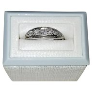 Vintage Classic White Gold Diamond Ring