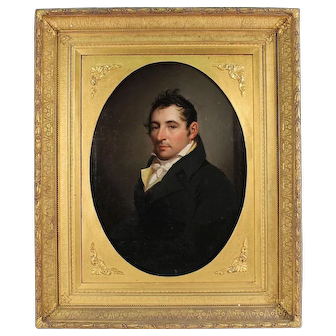 John Vanderlyn (1776-1852) Portrait of Elias Bailey Dayton Ogden (1800-1865)