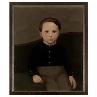 Portrait of a Boy attributed to Cephas Giovanni Thompson